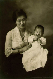 Portrait of Seki Hiromura-Ace's mother and one of the Hiromura boys