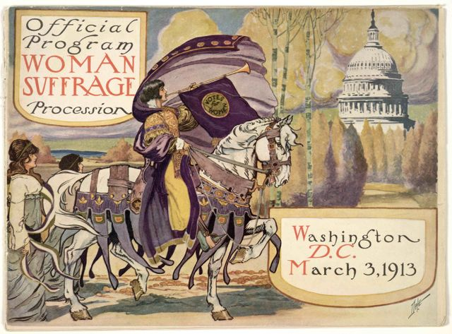 Official program woman suffrage procession. Washington, D. C. March 13, 1913