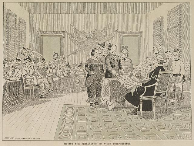 Signing the declaration of their independence